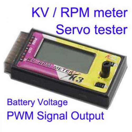 k3 bldc kv rpm meter servo tester battery voltage checker pwm